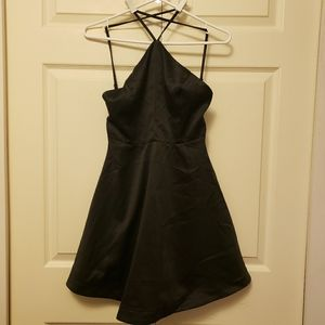Black Satin Dress Size S